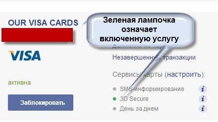 банк 3D Secure
