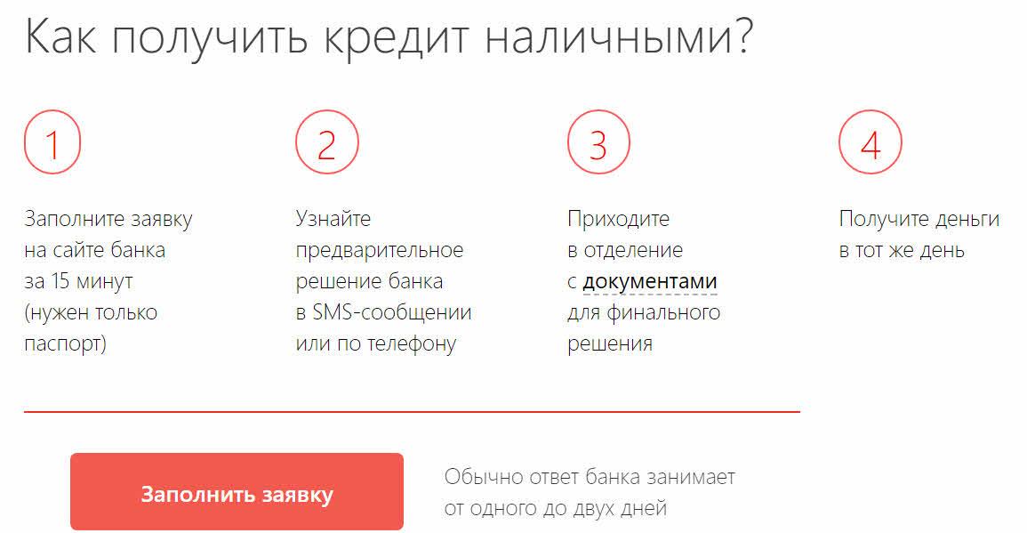 Альфа банк заявка