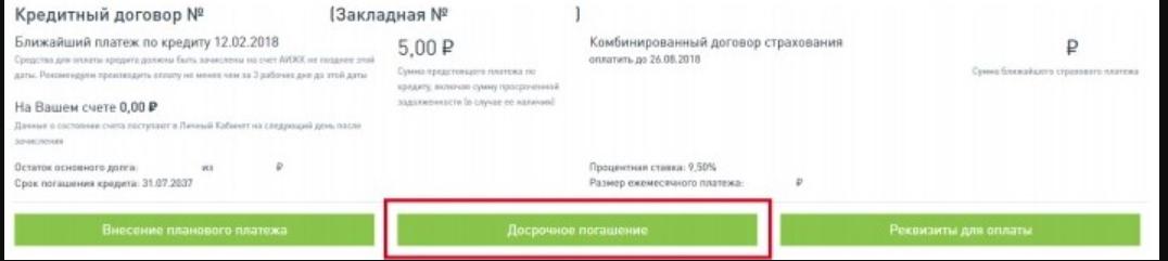 Досрочное погашение Дом.РФ
